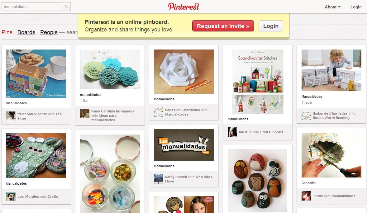Pinterest Un Buen Sitio Para Encontrar Cosas Interesantes - Cosas-para-hacer-de-manualidades