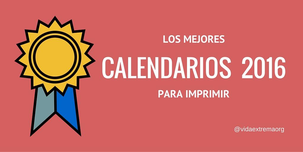 Calendarios 2016 gratis para imprimir